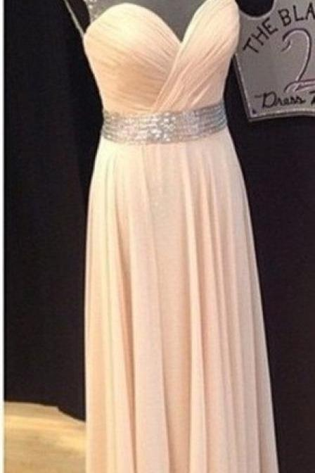 A Line Open Back Blush Prom Dess,Illusion Blush Evening Dess,Open Back Blush Chiffon Graduation Dress