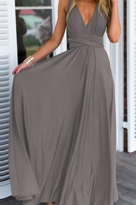 Prom Gown,Pretty Prom Dresses,Gray Prom Gown,Simple Prom Gown,Grey Bridesmaid Dress,Cheap Evening Dresses,Fall Prom Gowns,2018 Beautiful Bridesmaid Gowns