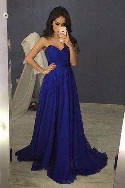 Sweetheart Prom Dress,Royal Blue Prom Dress ,2018Prom Gowns,Simple Prom Evening Dress,Formal Dress On Sale,Party Dress,Women Dress,Bridesmaids Dress