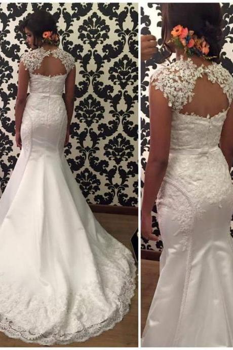 Mermaid Lace Wedding Dresses Charming mermaid Women Bridal Gowns