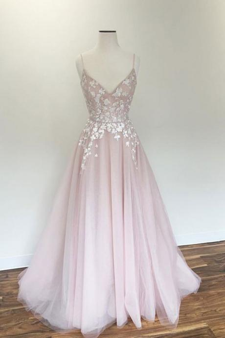Prom Dress,Evening Gowns,Party Dresses,Pink Evening Gowns,Formal Gown For Teens