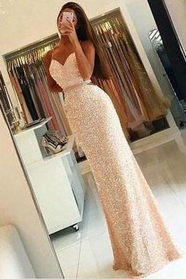 Sweetheart Prom Dresses, Beading Prom Dresses, Crystal Party Dress, Sexy Evening Dresses, Long Formal Dresses, Prom Dress