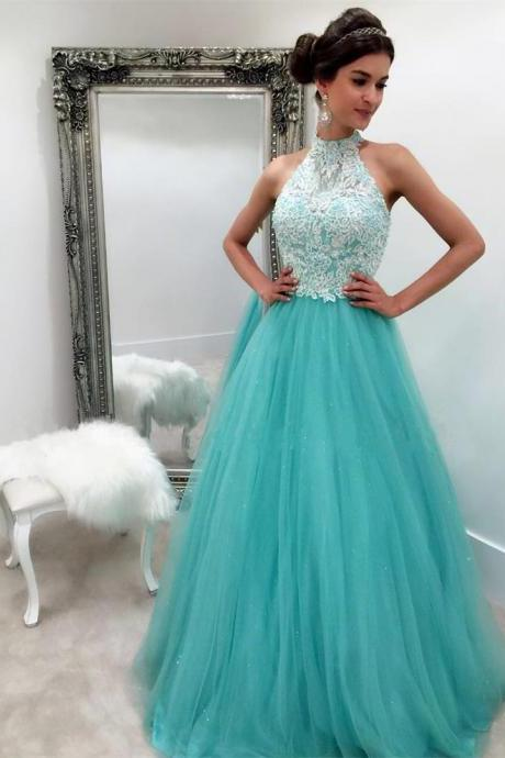 High Quality Prom Dress,Prom Dress 2018,Turquoise Prom Dresses Ball Gowns, New Arrival Custom Made Prom Dress,Modest Prom Dress,Evening Dress,Formal Dress