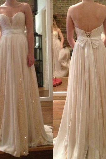 long prom dress, sweet heart prom dress, champagne prom dress, modest prom dress, pretty prom dress