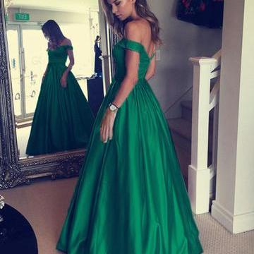 Off Shoulder A Line Prom Dress, Sexy Prom Dresses, Long Evening Party Dress